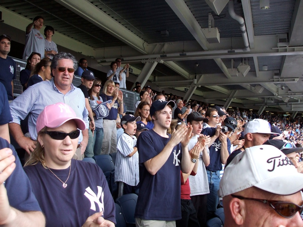 Yankees fans - rowdy and spirited