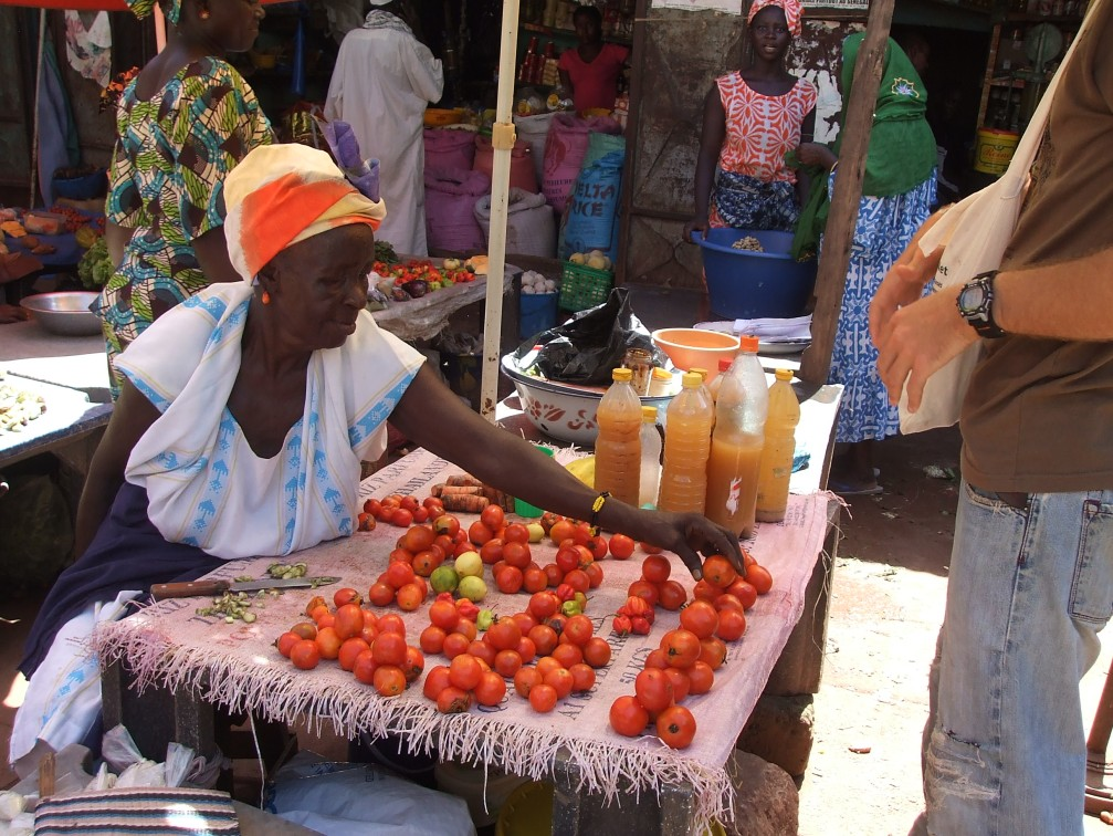 Vegetable market, Kolda, Senegal