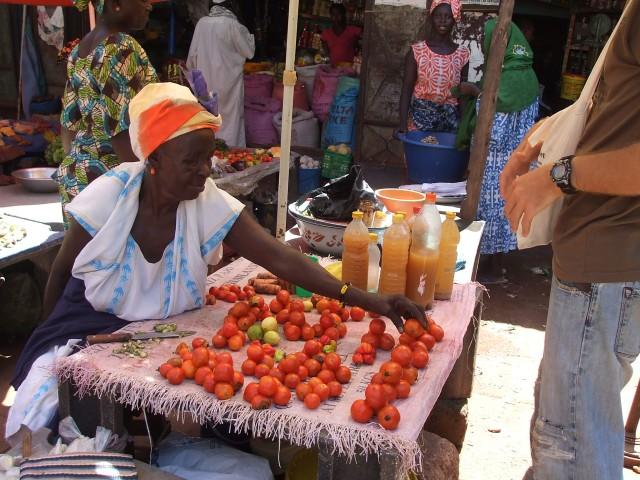 Vegetable market, Kolda, Senegal