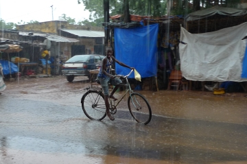 Boy on bike, Kolda, Senegal.